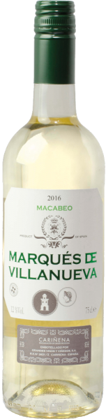 """Marqués de Villanueva"" Macabeo Blanco Cariñena DOP"