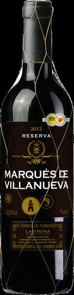 Grandes Vinos y Viñedos - Tempranillo Marqués de Villanueva Reserva Cariñena DOP